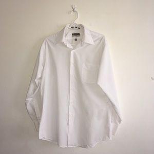Men's Van Heusen White Dress Shirt